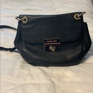 Michael kors leather crossbody partial chain strap